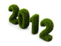 concetto dell'erba di nuovo anno 2012 Immagini Stock Libere da Diritti