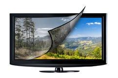Concetto dell'esposizione della televisione fotografia stock
