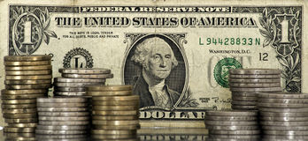 Concetto dell'euro e del dollaro Fotografia Stock Libera da Diritti