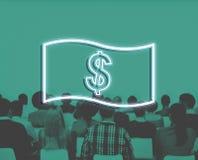 Concetto dell'icona dei soldi di contabilità di flusso di cassa di risparmio fotografie stock