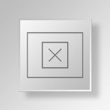 concetto dell'icona del bottone del wireframe del modello 3D Fotografia Stock