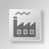 concetto dell'icona del bottone di industria 3D Fotografie Stock Libere da Diritti