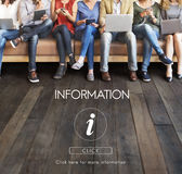Concetto dell'icona della lettera del FAQ di aiuto di informazioni Immagine Stock