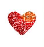 Concetto dell'icona di amore Simbolo astratto del cuore rotto Fotografie Stock Libere da Diritti