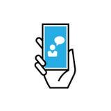 Concetto dell'icona di chiacchierata illustrazione di stock