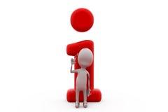 concetto dell'icona di informazioni dell'uomo 3d Immagini Stock Libere da Diritti