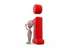 concetto dell'icona di informazioni dell'uomo 3d Immagini Stock