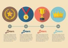 Concetto dell'icona di risultati infographic Fotografia Stock