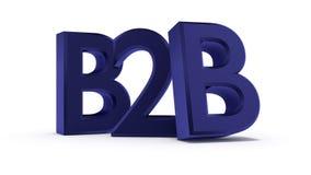 concetto dell'illustrazione 3d del blu tra imprese di vendita Fotografia Stock