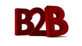 concetto dell'illustrazione 3d del business to business di vendita Immagini Stock Libere da Diritti