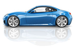 concetto dell'illustrazione del trasporto del veicolo dell'automobile sportiva 3D Immagine Stock Libera da Diritti