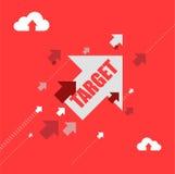concetto dell'illustrazione delle frecce della destinazione dell'obiettivo Fotografie Stock Libere da Diritti