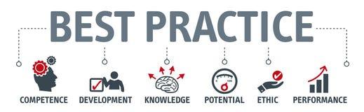 Concetto dell'illustrazione di vettore di best practice Illustrazione di Stock