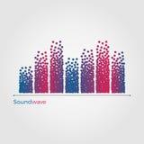 Concetto dell'illustrazione di vettore di Soundwave Illustrazione di Stock