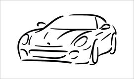 Concetto dell'illustrazione di vettore dell'illustrazione dell'icona dell'automobile su fondo bianco illustrazione vettoriale