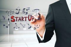 Concetto dell'imprenditore e di partenza immagini stock