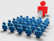 Concetto dell'incontro di affari 3d di web Immagine Stock