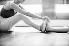 Concetto dell'innocente di pratica di ballo di balletto della ballerina Fotografia Stock Libera da Diritti