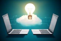 Concetto dell'innovazione, del collegamento e di idee Immagine Stock Libera da Diritti