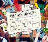 Concetto dell'innovazione di idee di pensiero creativo immagine stock