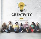 Concetto dell'innovazione di immaginazione di idee di abilità di creatività fotografie stock libere da diritti