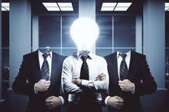 Concetto dell'innovazione, di lavoro di squadra e di idee Fotografia Stock Libera da Diritti