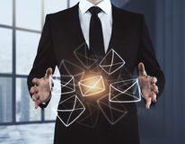 Concetto dell'innovazione e del email Immagini Stock Libere da Diritti