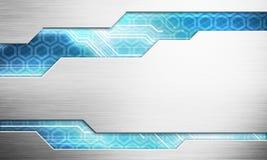 Concetto dell'interfaccia di tecnologia di immagine di Digital con il microchi del circuito Immagine Stock