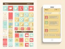 Concetto dell'interfaccia utente mobile Immagini Stock Libere da Diritti