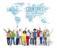 Concetto dell'internazionale del territorio della società di nazione dei paesi Immagine Stock Libera da Diritti