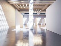 Concetto dell'interno aperto con luce solare 3d rendono Fotografia Stock Libera da Diritti