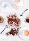 Concetto dell'intervallo per il caffè Fotografie Stock Libere da Diritti