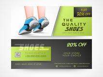 Concetto dell'intestazione o dell'insegna di vendita della scarpa Immagine Stock Libera da Diritti