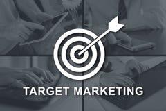 Concetto dell'introduzione sul mercato di obiettivo Fotografia Stock Libera da Diritti