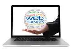 Concetto dell'introduzione sul mercato di web Immagini Stock