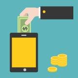 Concetto dell'introduzione sul mercato e dell'acquisto online Fotografia Stock