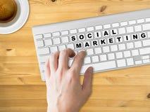 Concetto dell'introduzione sul mercato sociale Fotografia Stock Libera da Diritti