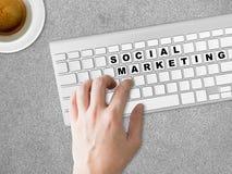 Concetto dell'introduzione sul mercato sociale Fotografia Stock