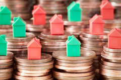 Concetto dell'investimento di bene immobile e di ipoteca Immagini Stock