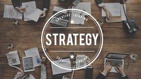 Concetto dell'obiettivo di successo di affari di pianificazione della soluzione di strategia Fotografia Stock Libera da Diritti