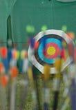 Concetto dell'obiettivo di tiro con l'arco Fotografia Stock