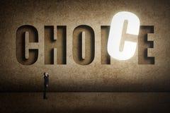 Concetto dell'obiettivo, scelta, decisioin Fotografie Stock