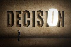 Concetto dell'obiettivo, scelta, decisioin Fotografia Stock