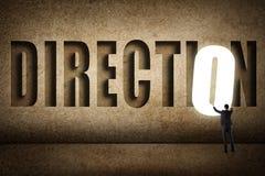Concetto dell'obiettivo, scelta, decisioin Immagini Stock Libere da Diritti