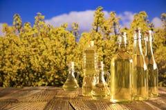 Concetto dell'olio di colza Fotografia Stock