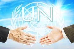 Concetto dell'organizzazione delle nazioni unite Immagini Stock Libere da Diritti