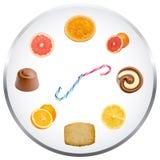 Concetto dell'orologio di nutrizione Fotografia Stock Libera da Diritti