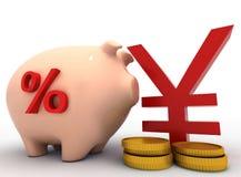 concetto della banca piggy 3d Immagini Stock