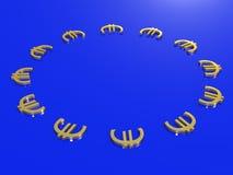 Concetto della bandiera 3D di Europa Fotografia Stock Libera da Diritti
