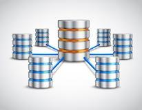 Concetto della base di dati di rete Immagini Stock